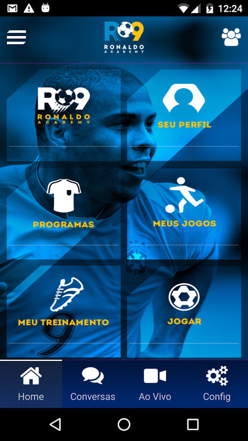 Ronaldo Academy Connect: captura de tela