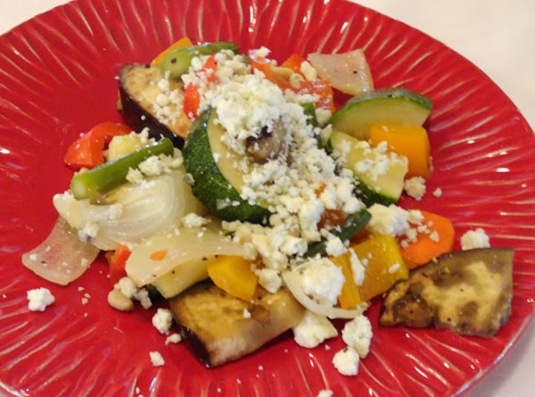 Grilled Vegetables With Goat Cheese And Balsamic Glaze Recipe