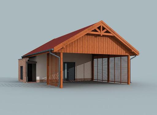 projekt G280 wiata garażowa