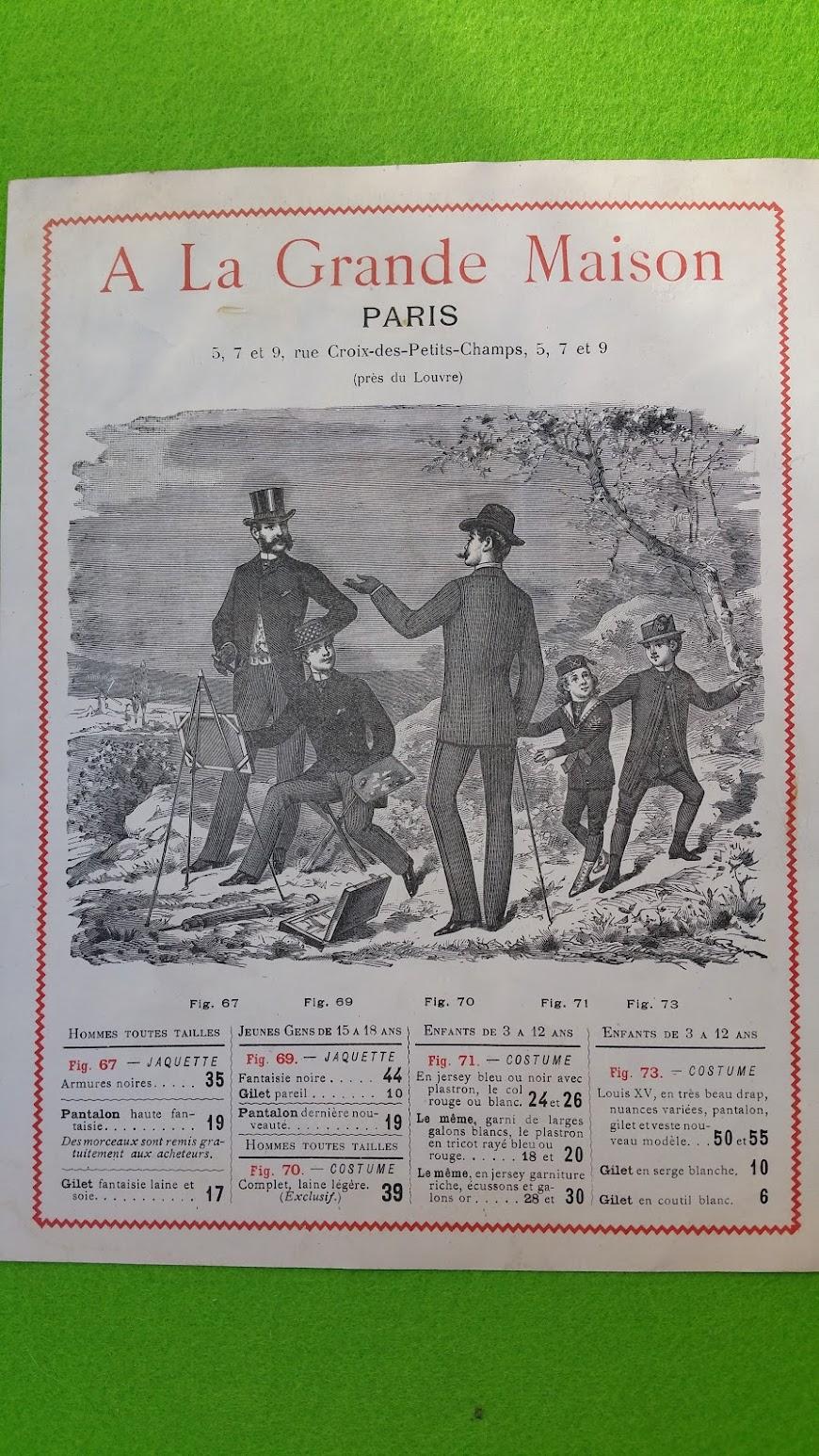 Programmblatt - Jardin Zoologique d'Acclimatation du Bois de Boulogne  - Paris 8. Mai 1887 - Werbung A La Grande Maison, Paris