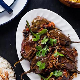 Indian Style Stuffed Eggplants - Bharwan Baigan