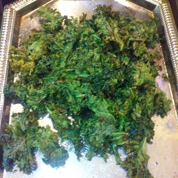 Kale Chips Drizzled With White Truffle Oil Recipe