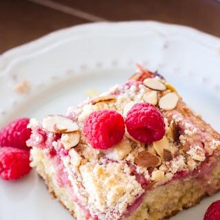 Raspberry Almond Cream Cheese Coffee Cake
