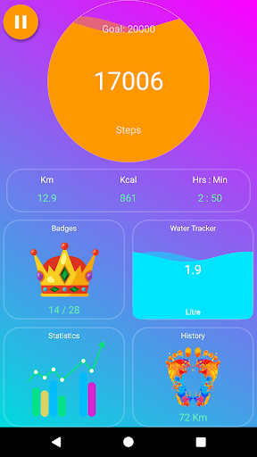 EasyFit Step Counter - Pro screenshot 1