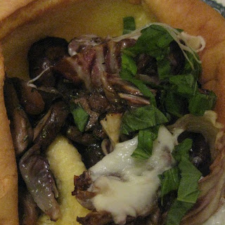 Giant Popover with Rosemary Mushrooms