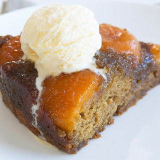 Caramelised Apricot Upside-down Cake.