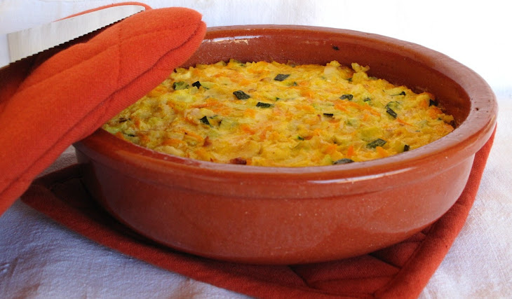 Baked Vegetable and Fish Pudding Recipe