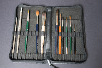 Photo: Escoda Leather Brush Case - http://www.parkablogs.com/node/10974
