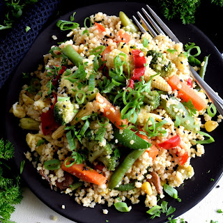 Vegetable Fried Millet.