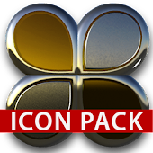 Gold silver glas icon pack 3D