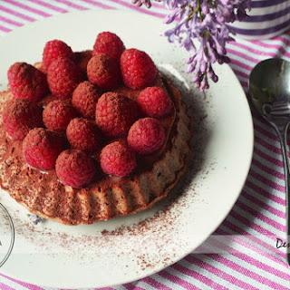 Caramel raspberries tart/ Tarta cu zmeura si caramel
