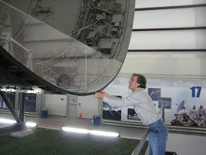 Photo: Vince touching the Interstage Ring between the third and second stages of the Saturn V