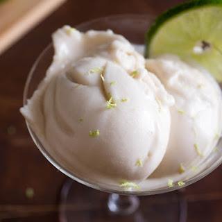 Vegan Coconut, Lime, and Rum Ice Cream.