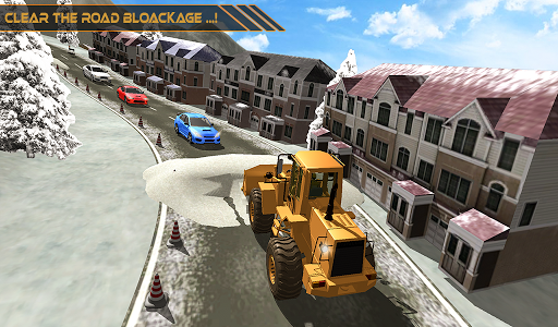 Snow Excavator Dredge Simulator - Rescue Game screenshot 11
