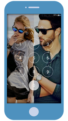Couple Photo Zippy Lock Screen - screenshot