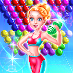 Fitness Girl Bubble Icon