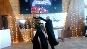 Un momento del baile nupcial.