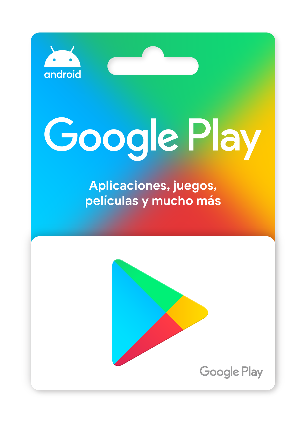 Tarjetas regalo de Google Play