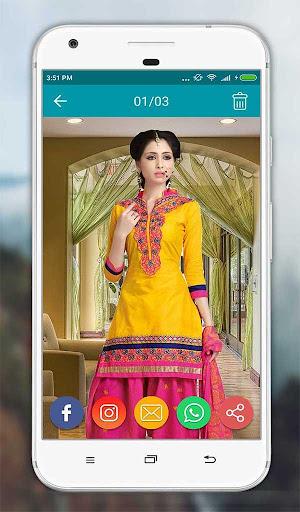 Women Salwar Suit Photo Editor screenshot 15