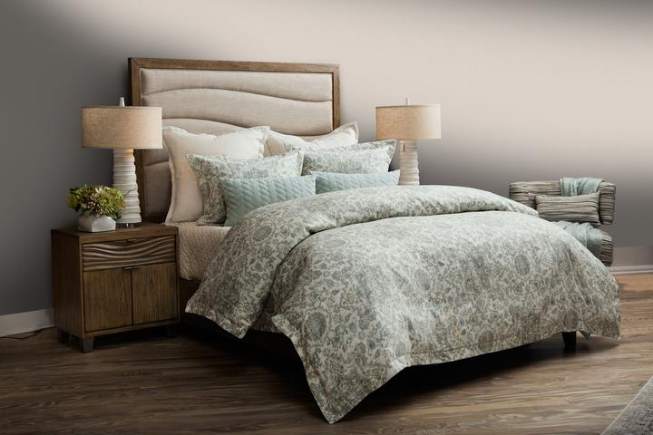 A picture containing indoor, wall, floor, bed  Description automatically generated