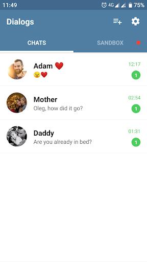 Fake Chat Messenger — TeleFake 1.0.5 screenshots 1