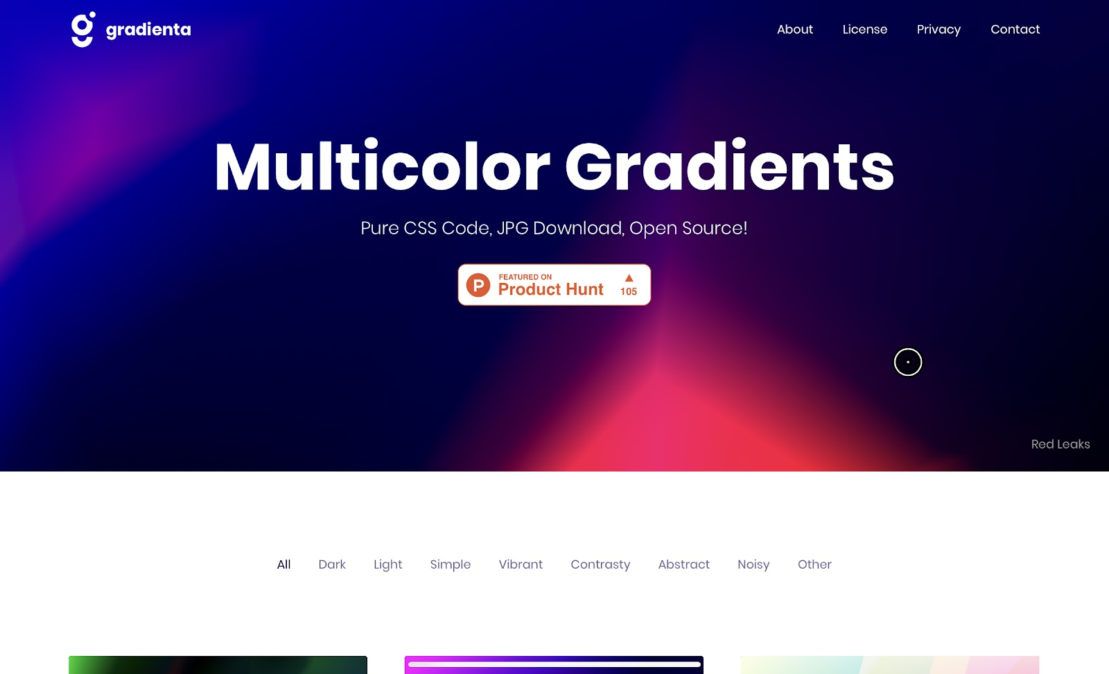Amazing Pure CSS Multicolor Gradients with Gradienta