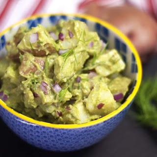 Creamy Potato Salad (Vegan).