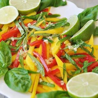 Vegan Thai Mango Salad with Ginger-Lime Dressing