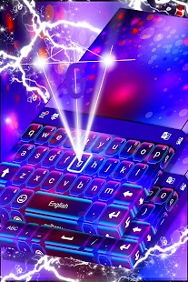 Colored Lights Keyboard Theme - náhled
