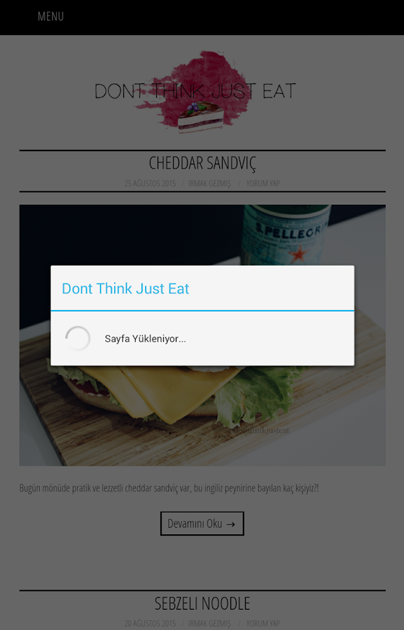 Dont Think Just Eat- screenshot