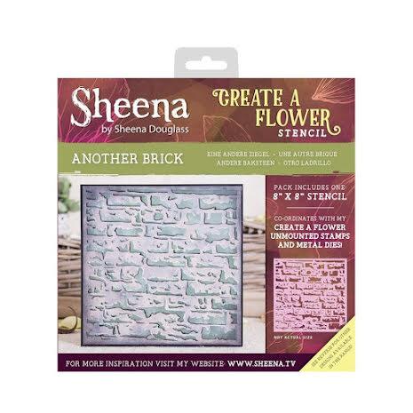 Sheena Douglass Create a Flower 8X8 Stencil - Another Brick UTGÅENDE