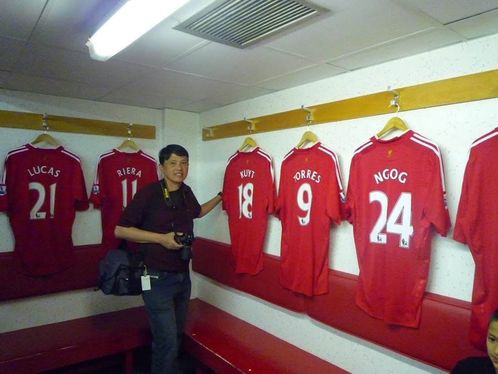 a69ca4bce This is on the opposite side of the LFC dressing room. Jerseys are hung up  for each first team player.