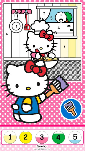 Color by Number with Hello Kitty apktram screenshots 7