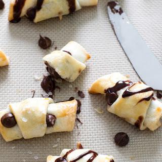Chocolate Stuffed Pie Crust Crescents.