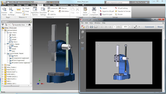 Learn Inventor 3D Manual - náhled
