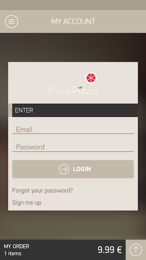Pura Pizza- screenshot