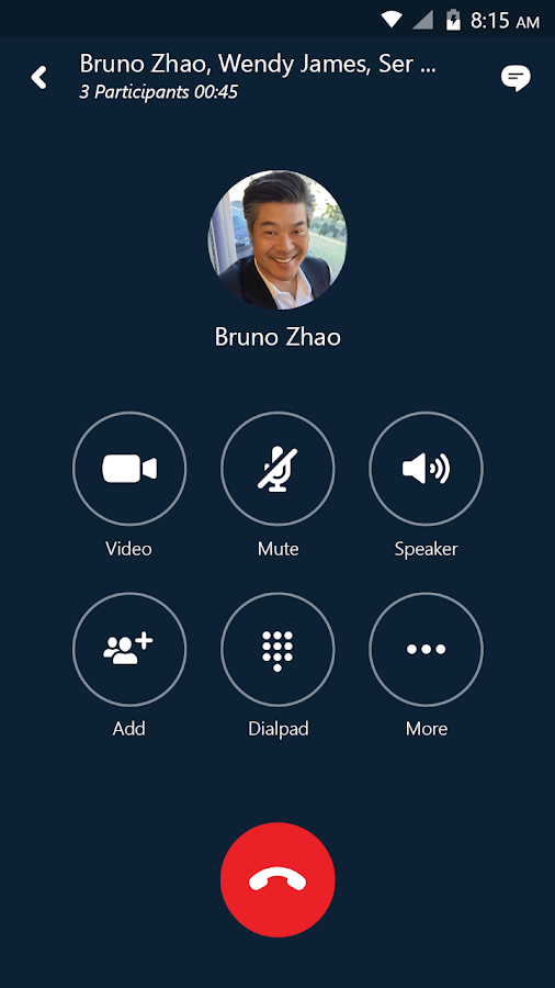 Skype for Business for Android- screenshot