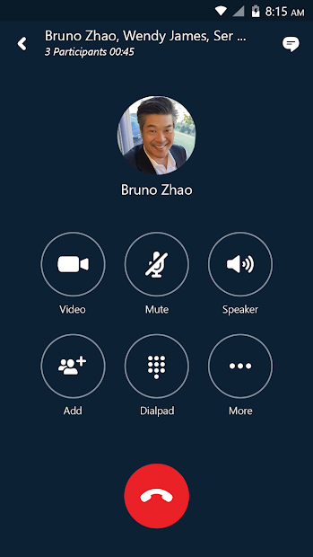 Skype for Business for Android Android App Screenshot