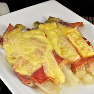 Braised Endive with Prosciutto and Gruyère