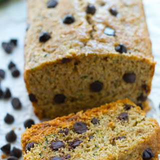 Healthy Dark Chocolate Chip Zucchini Bread