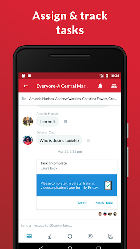 Crew - Free Messaging and Scheduling Screenshot