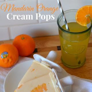 Mandarin Orange Cream Pops
