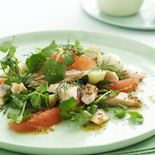 Smoked Trout, Potato and Ruby Grapefruit Salad.