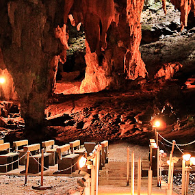Callao Cave by Bong Flores - Travel Locations Landmarks ( nature, caver, chapel, cave, stones, religious, formation )