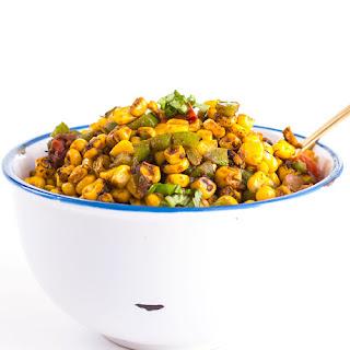 Spicy Cajun Roasted Corn Salad.