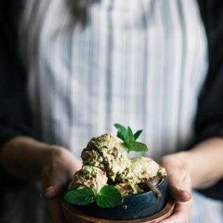 Matcha Avocado Mint Chocolate Mousse Swirl Ice Cream Recipe