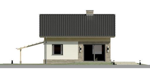 Dom przy Imbirowej 3 N - Elewacja tylna