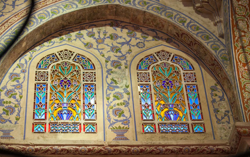 Blue-Mosque-stained-glass-windows-2.jpg - Stained glass windows inside the Blue Mosque, or Sultan Ahmed Mosque, in Istanbul.