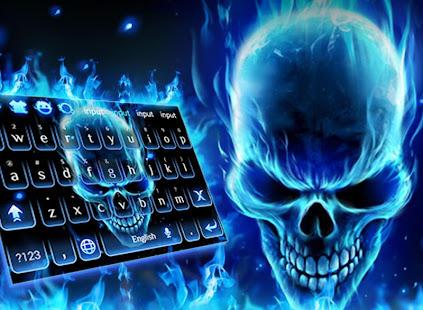 3d Blue Flaming Skull Keyboard التطبيقات على Google Play