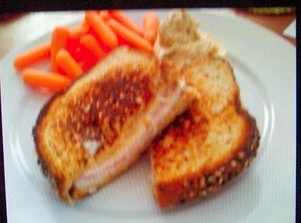 Turkey-stuffed Grilled Cheese Sandwich